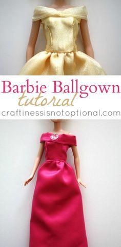 Barbie Ball Gown Tutorial