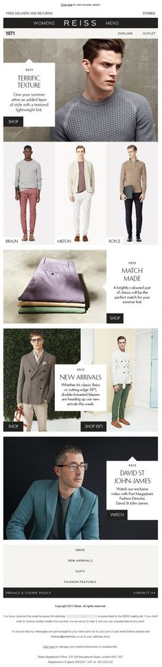 Reiss - Apparel Email