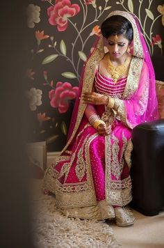 Beautiful Indian Brides indian weddings, colors, dress, outfit, brides, asian bridal, indian fashion, beauti indian, indian bride