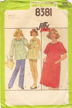 Vintage Sewing Pattern  1977 Misses Maternity by thehalfhouse, $6.00