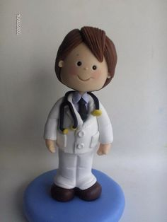 fondant doctor, pasta francesa. doctor, polymer clay, doctor fimo, cake toppers