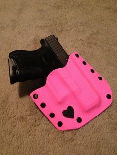 Get a girl to carry a gun.Glock Custom Pink Kydex Holster | eBay