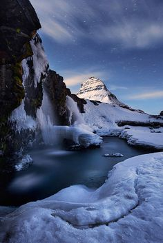 Moonshine Night, Kirkjufell, Iceland,  by Stefan Hefele.