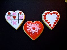 heart cookies by edible canvas creations. www.facebook.com/ediblecanvascreations