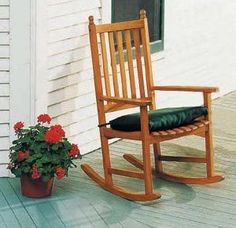 2 Outdoor Wooden Rocking Chairs