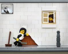 Da #Tumblr  Jeff Friesen reimagines #Banksy's famous street #art as #LEGO scenes in his series Bricksy, infusing each scene with his own sense of humor.