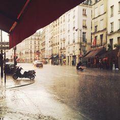 La pluie en terrasse