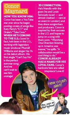 Conor Maynard feature in the new July issue of BOP/Tigerbeat! #mayniacs #hotguys #crushalert