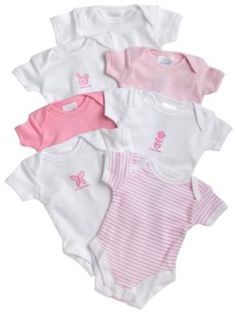 SpaSilk 100% Cotton Assorted Short Sleeve Lap Shoulder 7-Pack Bodysuit, Amazon Gold Box Deal through 2/23/2012, (list price: $19.99) Deal Price: $14.99. For more deals, follow pinterest.com/pinazon.