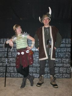 Hiccup & Astrid How to Train Your Dragon costumes