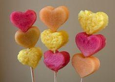 Valentine's fruit kebabs