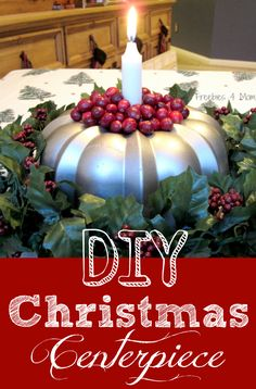 DIY Christmas Centerpiece – Bundt Pan Candle Holder http://freebies4mom.com/bundtcandle/