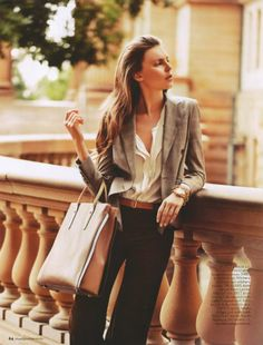 Classy for a day of shopping and lunch.  Love the bag.