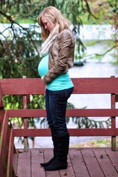 Work it: Workin' a tiny jacket - Maternity Style