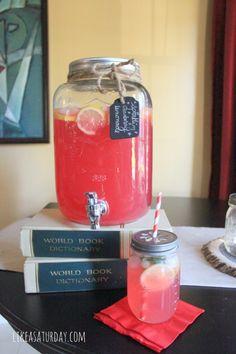 Sparkling Cranberry Lemonade recipe | Like a Saturday