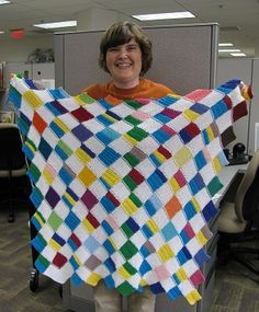 Prime Factorization blanket: an awesome combination of knitting and math! by sonderbooks.com
