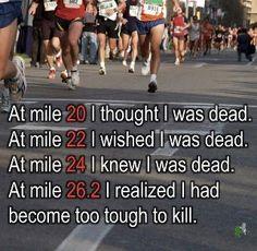 Marathon- this is so true!!!