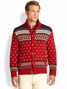 Polo Ralph Lauren - Patterned Cotton & Linen Cardigan - Saks.com