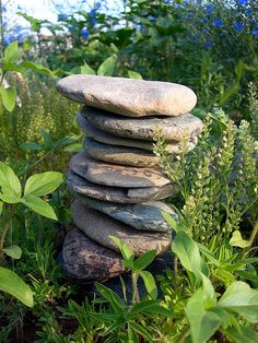 I want to make some rock stacks in my garden this year.