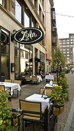 """Chef Michael Symon's """"Lola"""" Restaurant located in Downtown Cleveland, Ohio."""