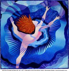 Dancing Through the Blues by Caryl Bryer Fallert