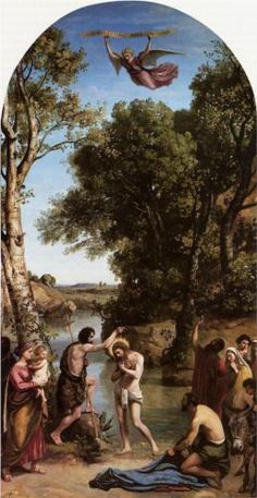 The Baptism of Christ - Camille Corot