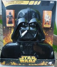 Star Wars Revenge Of The Sith Darth Vader Carrying Case w Vader n Obi Wan Figures by elisia