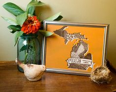 Michigan State Bird 8 x 10 Print - This is such a creative way to commemorate a state!