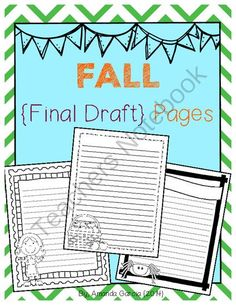 Fall Final Draft Pages from Sweet and Neat Printables on TeachersNotebook.com -  (15 pages)  - This 15-page *freebie* has been completely updated!   These fall-themed final draft pages are a fun option for students ready to publish their writing!