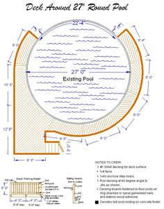 pool deck ideas | ft round pool deck plan, Deck Plans, Deck Designs, deck drawings, deck ...
