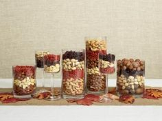 Ideas for IFC Thanksgiving Dinner this year: Dried nuts and beans layered... pretty simple and don't have to worry about matching all 35 tables
