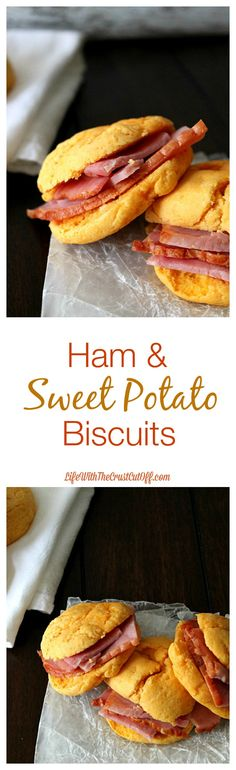 Ham & Sweet Potato Biscuits. Perfect for that leftover holiday ham!
