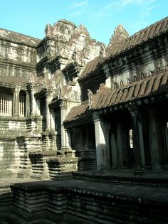 Intricate Khmer #architecture at a temple in #Vietnam. #Travel