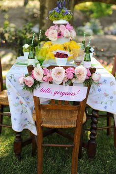 Lovely idea for a pretty garden party.