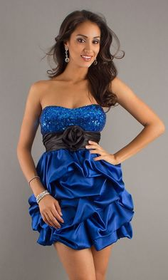 Short Blue Designer Homecoming Dresses, #Sweet #Sixteen #Dresses