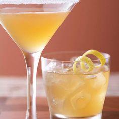 Brandy, lemon juice, and orange liqueur make up this classic Sidecar recipe. More classic cocktails: www.bhg.com/...