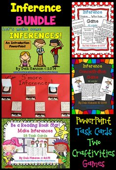 Inference Bundle (includes a PowerPoint, two craftivities, 2 games, and game-like task cards!) $