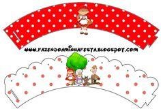Saias Wrappers para CupcakesChapeuzinho Vermelho
