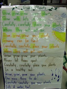plant unit song to the tune of row, row, row your boat. You never know when you'll have to teach music to your class.