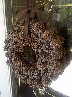 Pinecone wreath