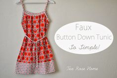 Riley Blake Designs Blog: Project Design Team Wednesday ~ Faux Button Down Tunic