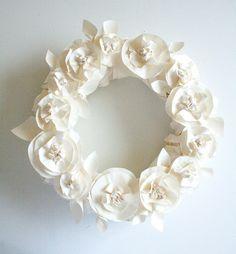 Butcher paper wreath