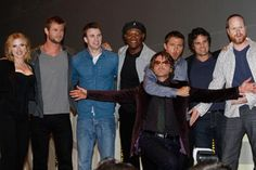 The Avengers cast. I just really love this pic.