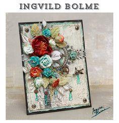 Ingvild Bolme Prima Flower Handmade Card - this would make a stunning wedding invitation too.