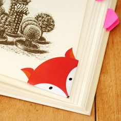 DIY - Printable fox corner bookmark | By Wilma