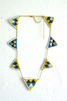 Embroidered necklace - Marañon Jewelery