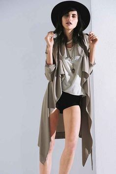 UNIF Flasher Drapey Trench Jacket - Urban Outfitters