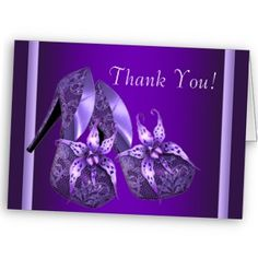 Heels invitations  Google Image Result for http://rlv.zcache.com/purple_high_heel_shoes_thank_you_cards-p1372548456217995697kp2_325.jpg