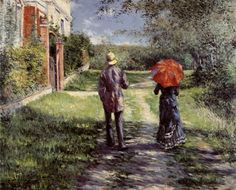 Rising Road  by Gustave Caillebotte, 1881.