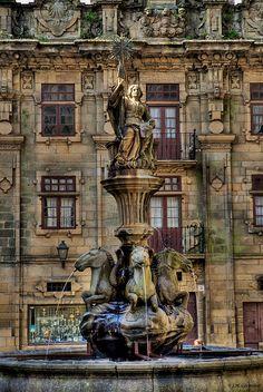 Fuente de los caballos  Santiago de Compostela   Galicia  Spain